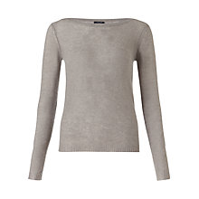 Buy Jigsaw Cashmere Sheer Jumper, Light Grey Online at johnlewis.com
