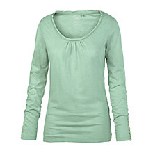 Buy Fat Face Belle Long Sleeved T-Shirt, Frost Green Online at johnlewis.com