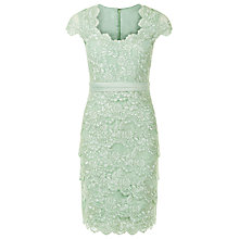 Buy Jacques Vert Petite Sweetheart Lace Layered Dress, Light Green Online at johnlewis.com