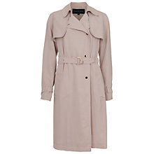 Buy French Connection Desert Twill Long Sleeved Trench Coat, Barley Sugar Online at johnlewis.com