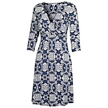 Buy Fat Face Camille Dotty Floral Dress, Indigo Online at johnlewis.com