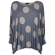 Buy Phase Eight Cecily Spot Top, Denim Online at johnlewis.com