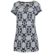 Buy Fat Face Devon Dotty Floral Tee, Indigo Online at johnlewis.com