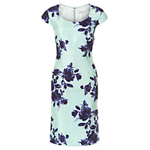 Buy Jacques Vert Petite Floral Print Dress, Multi Green Online at johnlewis.com
