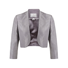 Buy Jacques Vert Petite Stand Collar Bolero, Champagne Online at johnlewis.com
