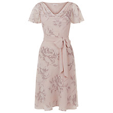 Buy Jacques Vert Petite Print Cowl Neck Dress, Mid Neutral Online at johnlewis.com