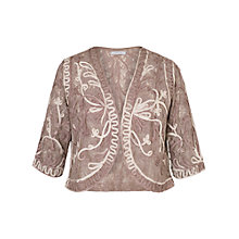 Buy Chesca Ombre Cornelli Stretch Lace Bolero, Mink Online at johnlewis.com