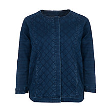 Buy French Connection Quilted Denim Jacket, Nocturnal Online at johnlewis.com