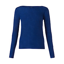 Buy Jigsaw Cashmere Sheer Jumper, Blue Online at johnlewis.com