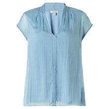 Buy Jigsaw Silk Front Pleat Detail Top Online at johnlewis.com