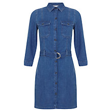Buy Miss Selfridge Denim Dress, Mid Wash Denim Online at johnlewis.com