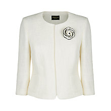Buy Precis Petite Textured Corsage Jacket, Cream Online at johnlewis.com