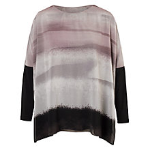 Buy Chesca Striped Print Tunic Dress, Pale Grey Online at johnlewis.com