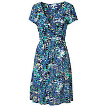 Buy Fat Face Camille Abstract Floral Dress, Dark Chambray Online at johnlewis.com