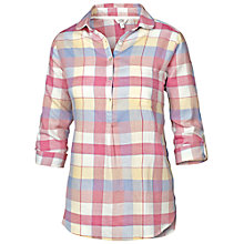 Buy Fat Face Buffalo Check Popover Shirt, Multi Online at johnlewis.com