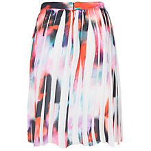 Buy French Connection Miami Graffiti Pleated Skirt, Keywest Coral Multi Online at johnlewis.com