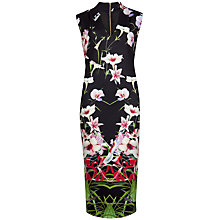 Buy Ted Baker Mirrored Tropics Midi Dress, Black Online at johnlewis.com
