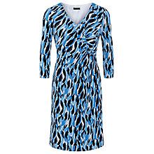 Buy Precis Petite Print Wrap Dress, Pastel Blue Online at johnlewis.com