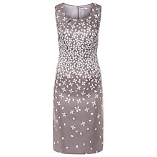Buy Jacques Vert Petite Petal Print Dress, Mocha Online at johnlewis.com