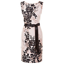 Buy Jacques Vert Petite Floral Dress, Multi Neutral Online at johnlewis.com