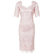 Buy Jacques Vert Luxury Lace Dress, Light Pink Online at johnlewis.com