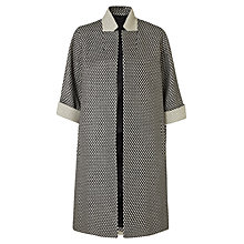 Buy Jigsaw Monochrome Textured Coat, Black/White Online at johnlewis.com
