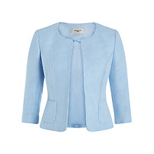 Buy Precis Petite Textured Tweed Jacket, Pastel Blue Online at johnlewis.com
