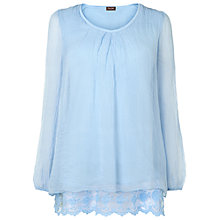 Buy Phase Eight Florence Lace Silk Blouse, Opal Online at johnlewis.com