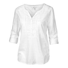 Buy Fat Face Whitley Broderie Popover Blouse, White Online at johnlewis.com