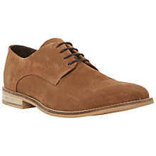 Buy Dune Bambino Perforated Suede Derby Shoes, Tan Online at johnlewis.com