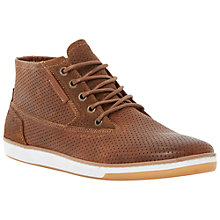Buy Dune Scooby Perforated Leather Hi-Top Trainers Online at johnlewis.com
