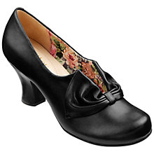 Buy Hotter Donna Slip On Court Shoes, Black Online at johnlewis.com