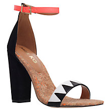 Buy Miss KG Faye Block Heel Sandals, Black/Other Online at johnlewis.com