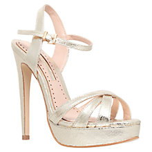 Buy Miss KG Eva High Heeled Stiletto Sandals, Gold Online at johnlewis.com