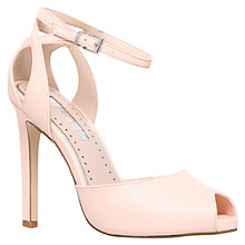Buy Miss KG Eddison Peep Toe High Heel Sandals, Nude Online at johnlewis.com