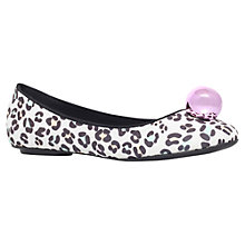 Buy Miss KG Mint Leopard Ballerina Pumps, Pink Online at johnlewis.com
