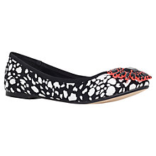 Buy Miss KG Mina Embellished Ballerina Pumps, Black/ White Online at johnlewis.com