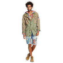 Buy Denim & Supply Ralph Lauren Trail Cotton Army Jacket, Army Olive/True Sage Online at johnlewis.com