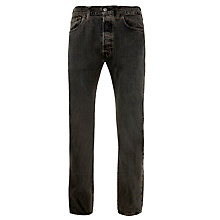 Buy Levi's Original 501 Straight Jeans, Foggy Black Online at johnlewis.com
