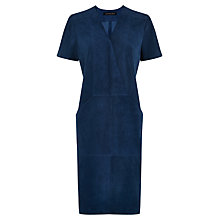 Buy Jaeger Suede Dress, Blue Wing Online at johnlewis.com