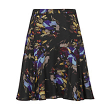 Buy Reiss May Printed Flippy Skirt, Mercury Online at johnlewis.com