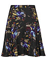 Reiss May Printed Flippy Skirt, Mercury