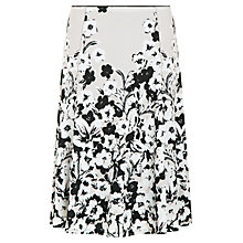 Buy Precis Petite Pansy Print Jersey Skirt, Multi Online at johnlewis.com