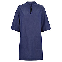 Buy Jaeger Short Sleeved Tunic Dress, Chambray Online at johnlewis.com