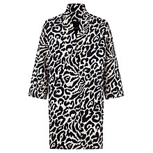 Buy Jaeger Animal Ikat Coat, Camel/Black Online at johnlewis.com