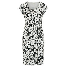 Buy Precis Petite Pansy Print Jersey Dress, Multi Dark Online at johnlewis.com
