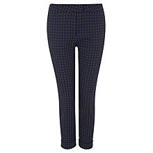 Buy Jaeger Graphic Cropped Trousers, Peacoat Online at johnlewis.com