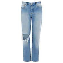 Buy Warehouse Loose Fit Boyfriend Jeans, Mid Wash Online at johnlewis.com