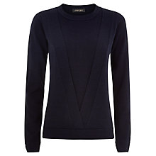 Buy Jaeger Double Layer Wool Jumper, Peacoat Online at johnlewis.com