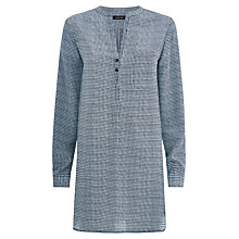 Buy Jaeger Silk Stitch Tunic Top, Blue Online at johnlewis.com
